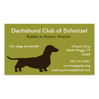 Dachshund Dog Silhouette Double-Sided Standard Business Cards (Pack Of 100)