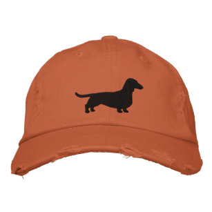 d6ec2477fb2 Dachshund Dog Silhouette Embroidered Baseball Hat