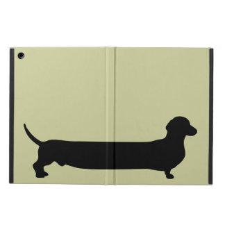 Dachshund dog silhouette funny cartoon wiener cover for iPad air