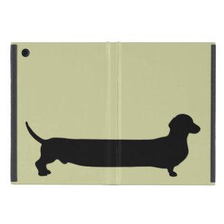 Dachshund dog silhouette funny cartoon wiener cover for iPad mini