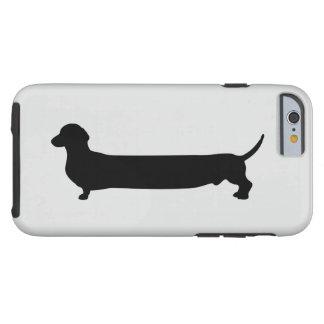 Dachshund dog silhouette funny cartoon wiener tough iPhone 6 case