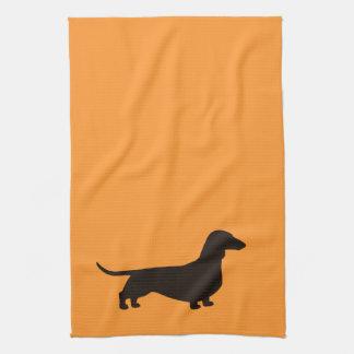 Dachshund Dog Silhouette Hand Towel