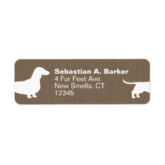 Dachshund Dog Silhouette Label