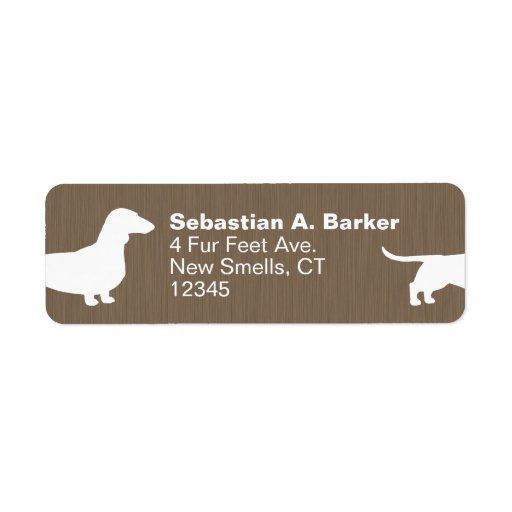 Dachshund Dog Silhouette Return Address Label