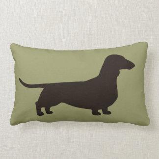 Dachshund Dog Silhouette Pillow
