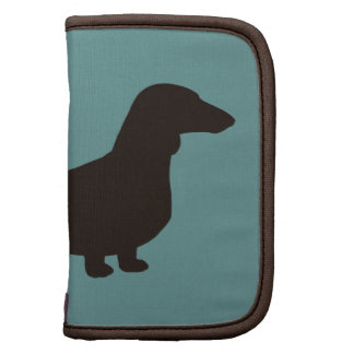 Dachshund Dog Silhouette (Short Haired Doxie) Planners