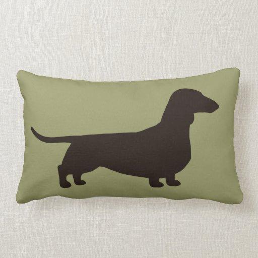 Doggy Throw Pillows : Dachshund Dog Silhouette Throw Pillow Zazzle