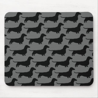 Dachshund Dog Silhouettes Mouse Pad