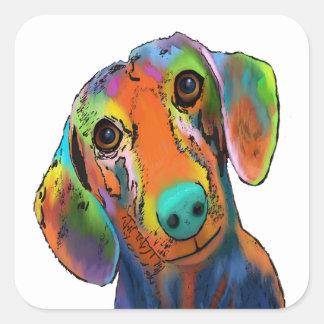 Dachshund Dog Square Sticker