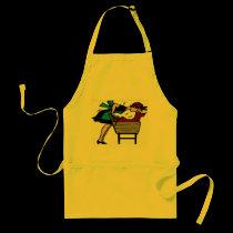 Dachshund Dog Wash aprons