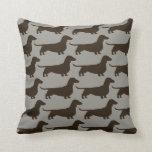 Dachshund Dogs Pattern Pillow
