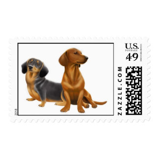 Dachshund Dogs Postage
