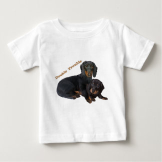 Dachshund Double Trouble Casual Apparel T-shirt