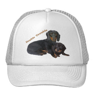 Dachshund Double Trouble T-shirts Hat