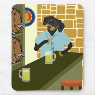 Dachshund Doxie Beer Barrel Keg Mouse Pad