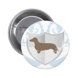 Dachshund Doxie Classic Crest Design Button