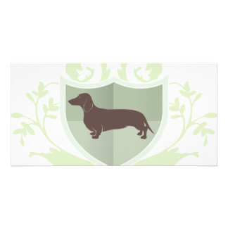 Dachshund Doxie Classic Crest Design Photo Card