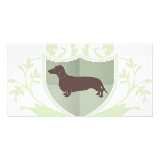 Dachshund Doxie Classic Crest Design Photo Card