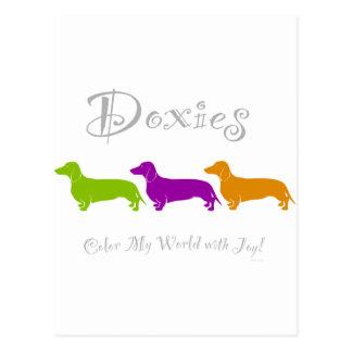 Dachshund / Doxie Joy Postcard