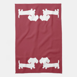 Dachshund Doxie Kitchen Red Towels