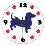 Dachshund Doxie Large Clock