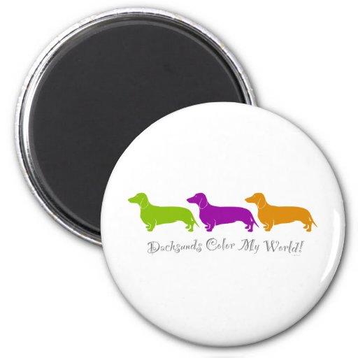 Dachshund - Doxie original artful designs 2 Inch Round Magnet