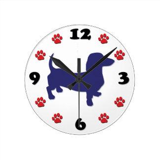 Dachshund, Doxie Wall Clock