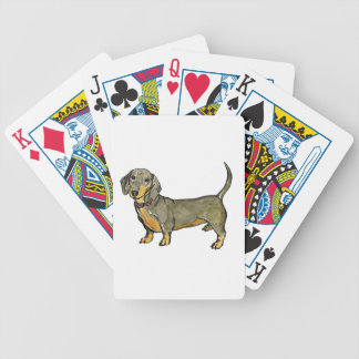 dachshund doxie wiener hot dog bicycle playing cards