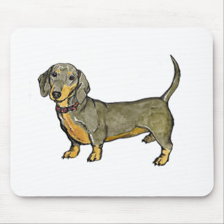 dachshund doxie wiener hot dog mouse pad