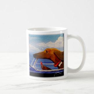 Dachshund Driving To A Beach Party Coffee Mugs