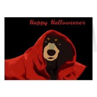 Dachshund Druid - Happy Halloweener Greeting Cards
