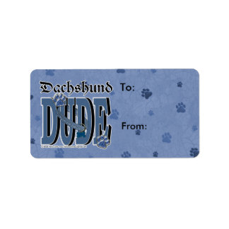 Dachshund DUDE Label