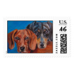 Dachshund Duo Postage Stamps