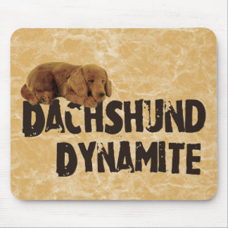Dachshund Dynamite Mouse Pad