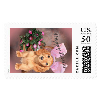 Dachshund Easter Bunny Postage