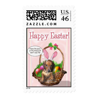 Dachshund Easter Stamps