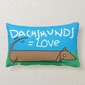 ¡Dachshund en la almohada! Cojín