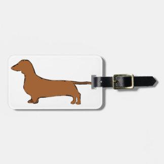 dachshund etiqueta para maleta