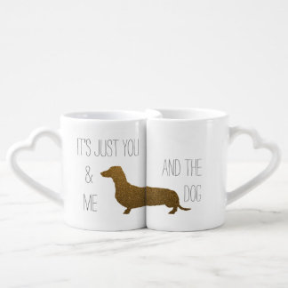 Dachshund Faux Gold Glitter | You Me and The Dog Coffee Mug Set