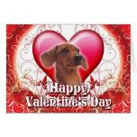 Dachshund feliz del día de San Valentín Tarjetas