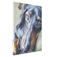Dachshund Fine art painting on Wrapped Canvas
