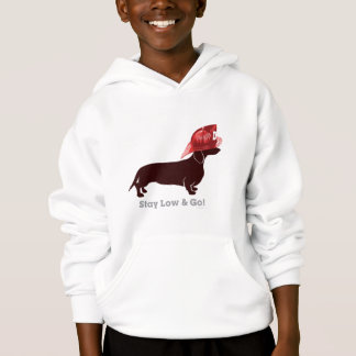 """Dachshund Firefighter """"Stay Low"""" Hoodie"""
