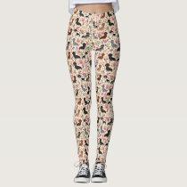 Dachshund floral dog leggings