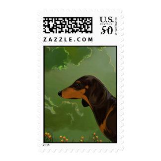 Dachshund front postage