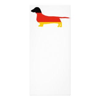 dachshund germany-flag silhouette rack card