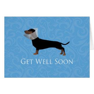 Dachshund Get Well Soon Design Greeting Card