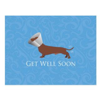 Dachshund - Get Well Soon Postcard