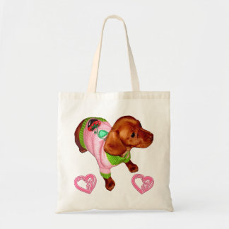 Dachshund Gift for Dachshund Lovers Custom Tote Budget Tote Bag