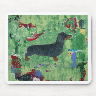 Dachshund Gifts Wiener Dog Modern Abstract Art Mouse Pad