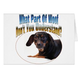 Dachshund Gifts - Woof Card